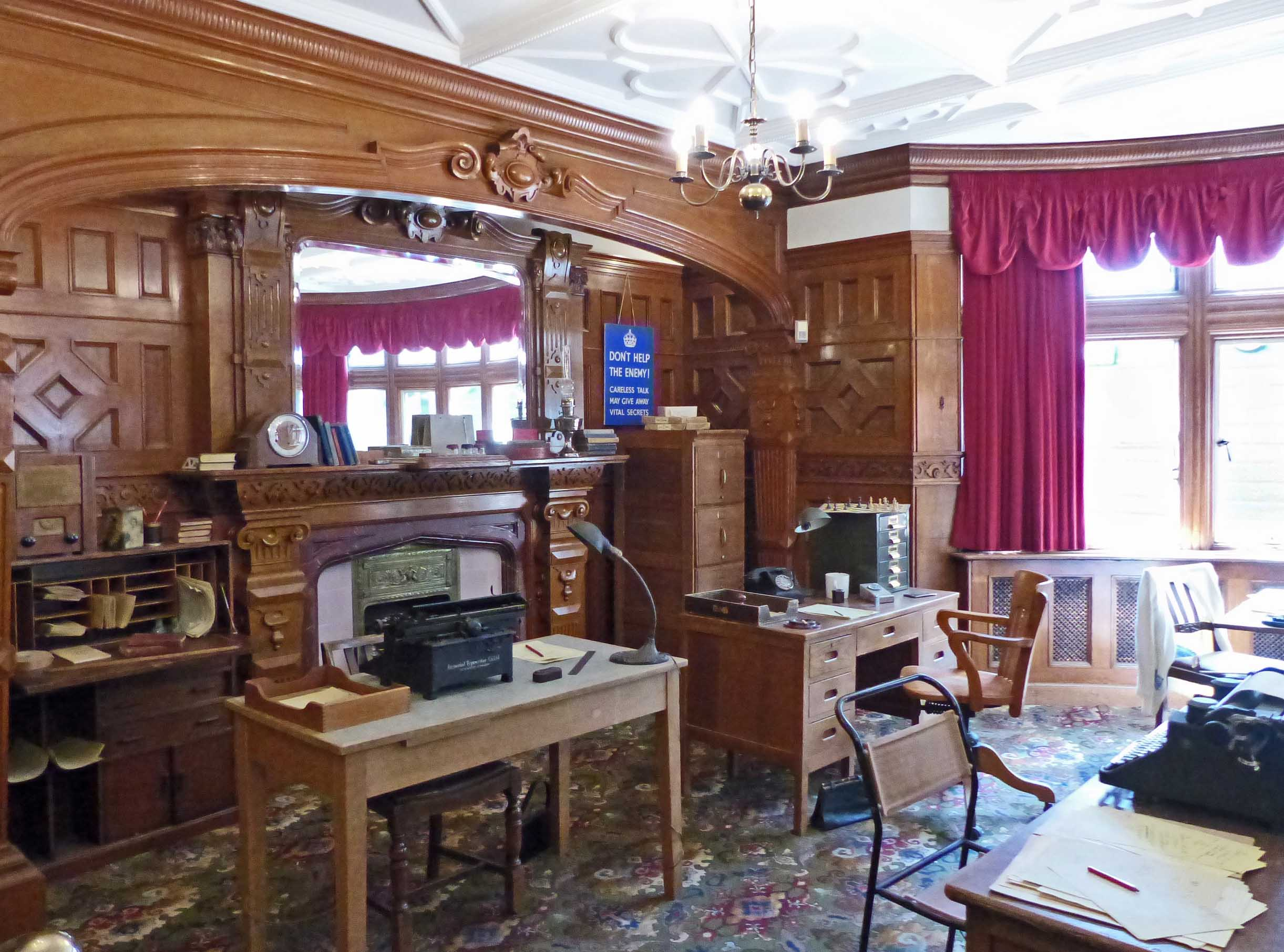 Room decorated as 1940s office