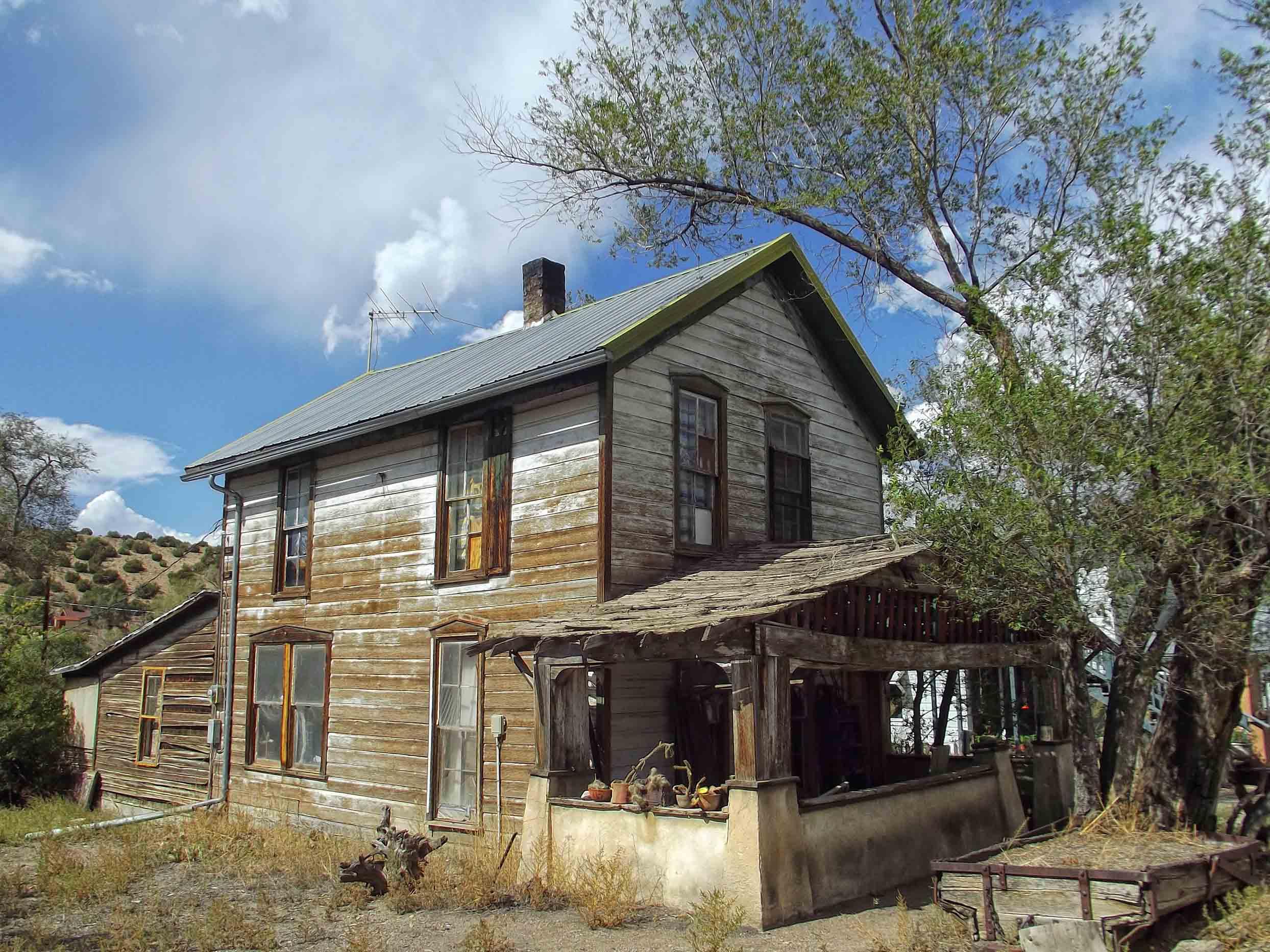 Run-down wooden house