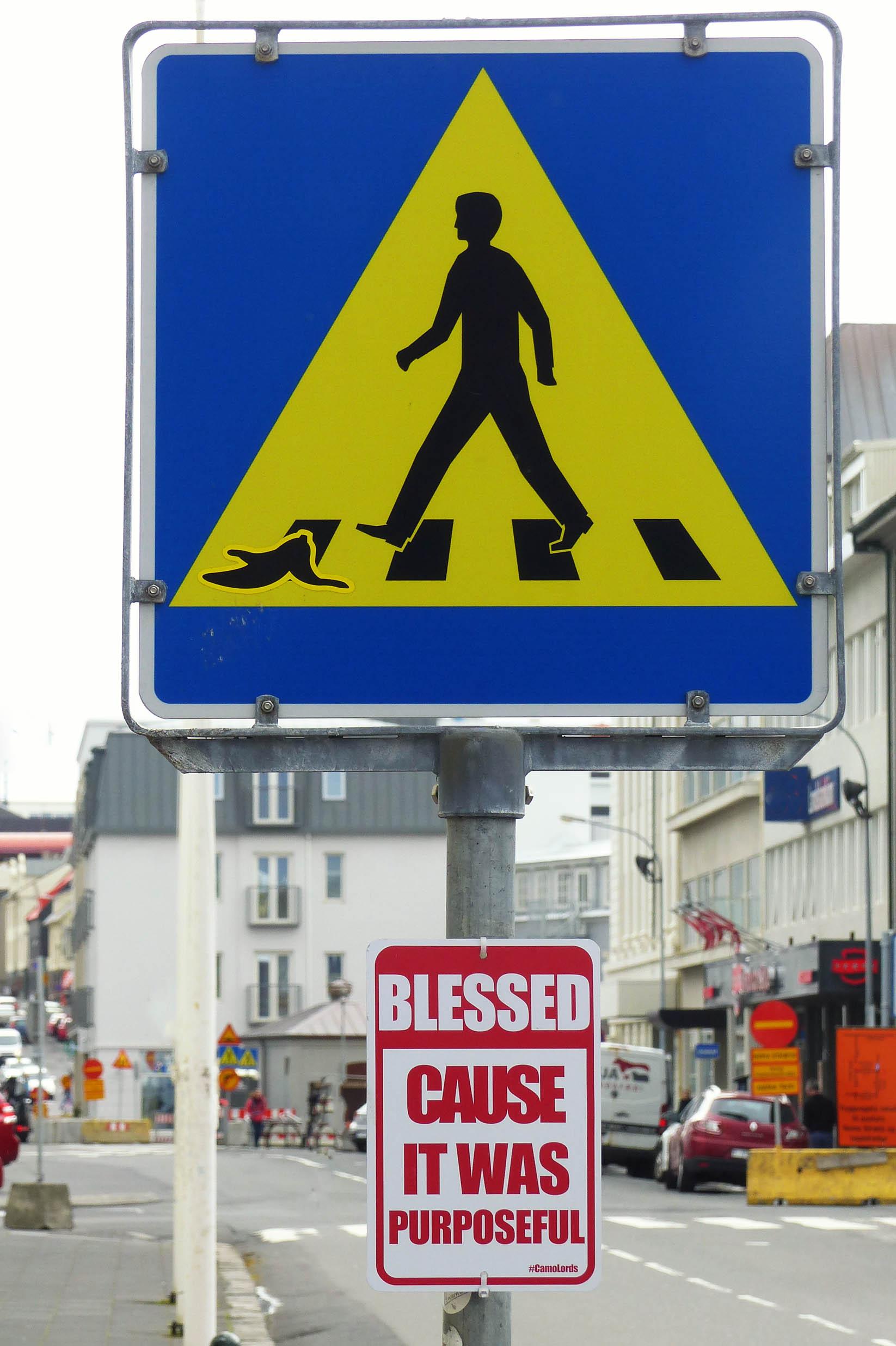 Road sign art