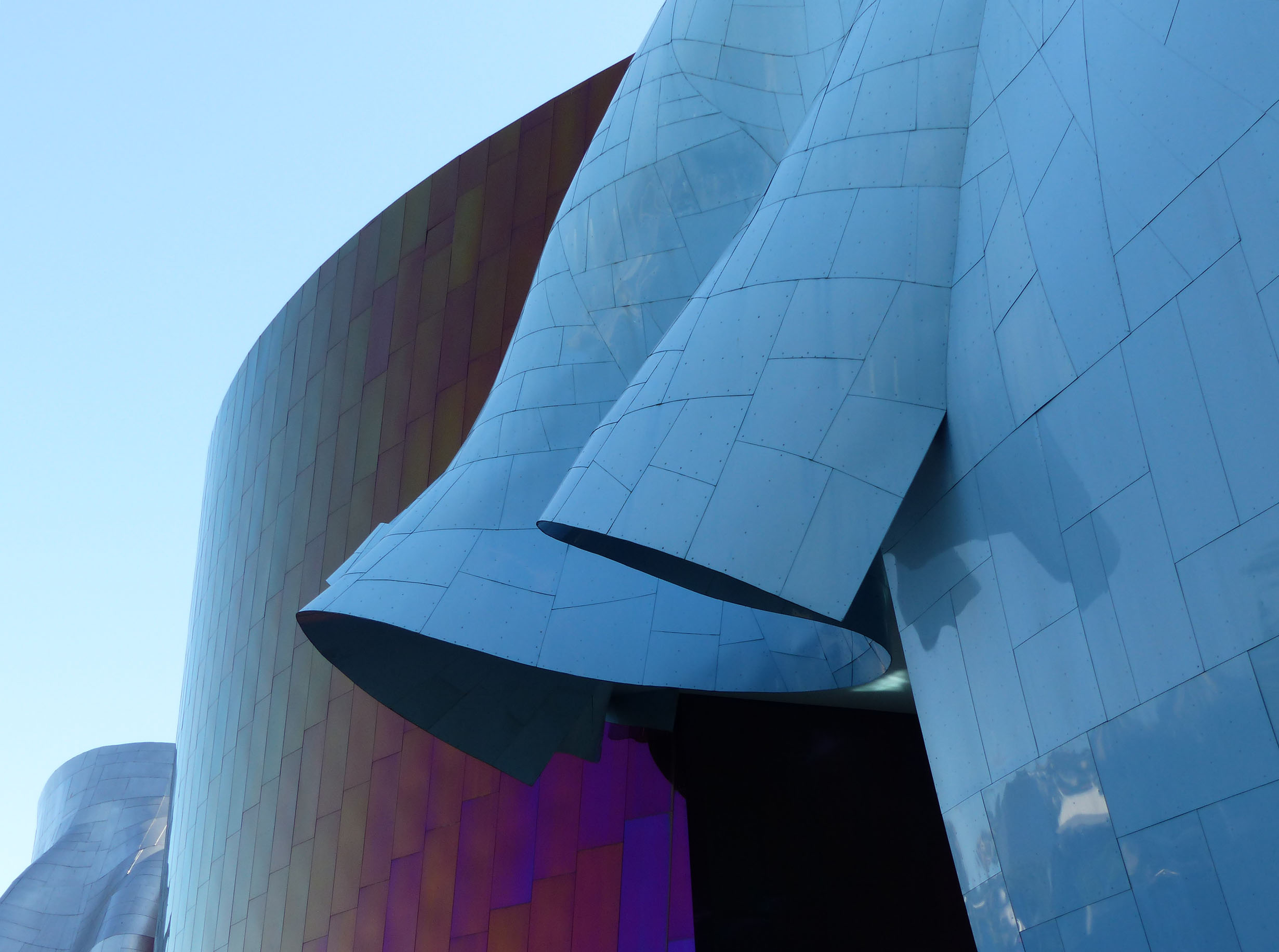 Modern building in sheet metal