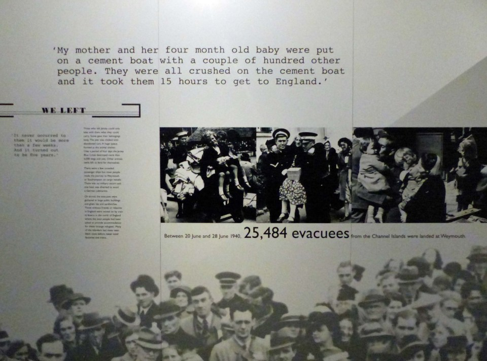 Information board with old photos