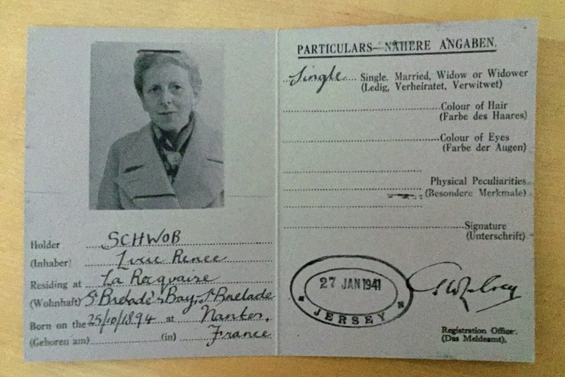 Replica ID card for Lucie Schwob