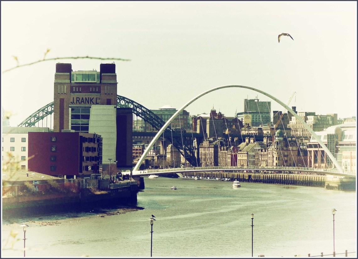 River through a city with several bridges