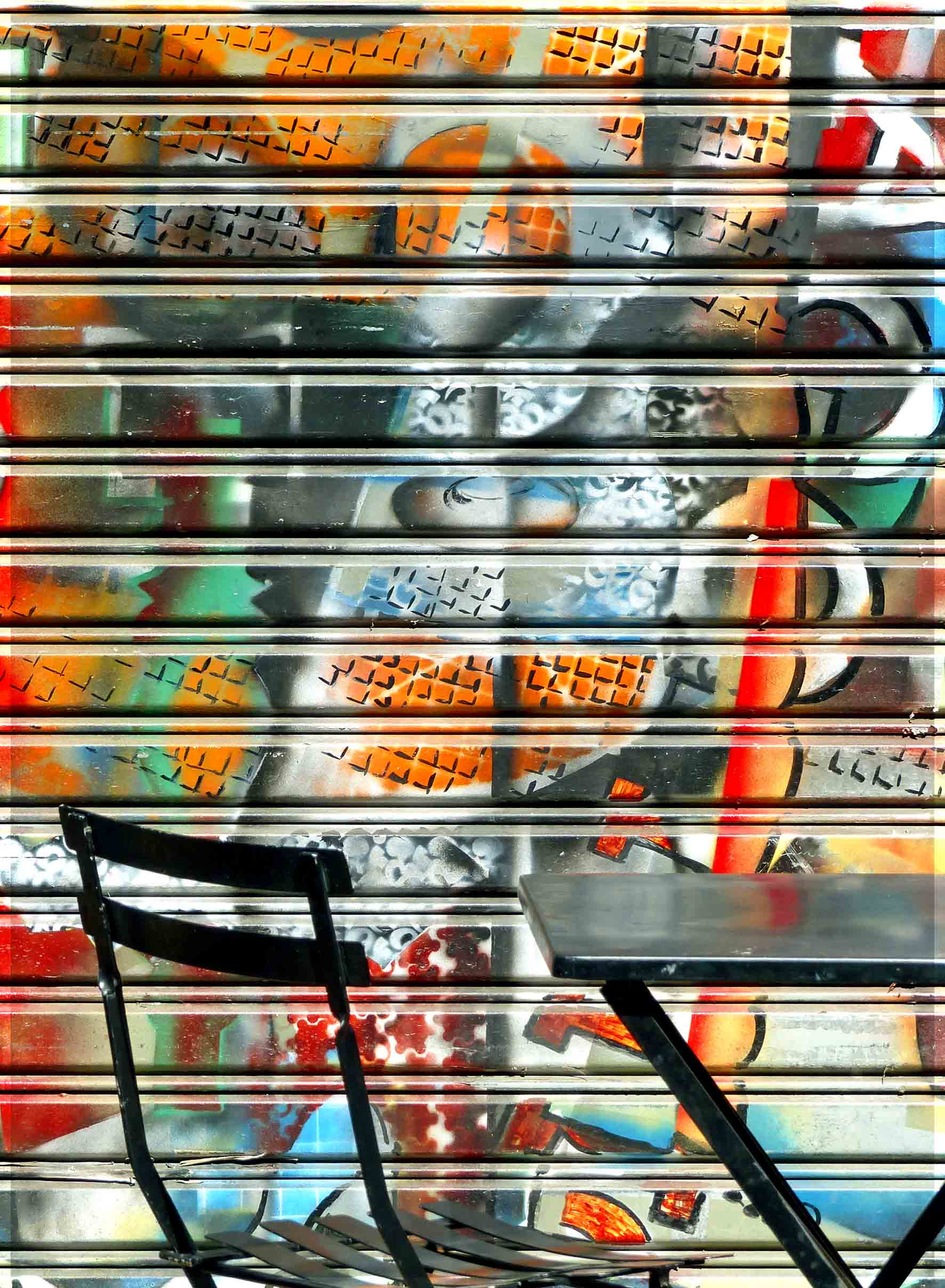 Painting on metal shutters