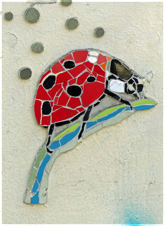 Small mosaic of a ladybird