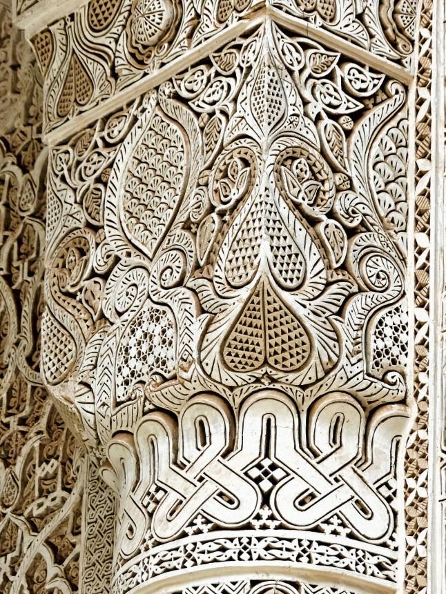 Intricate plaster decoration