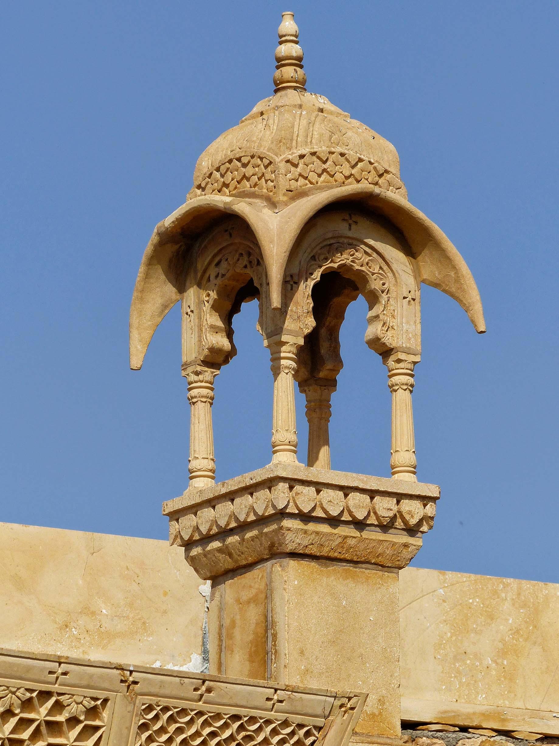 Ornate sandstone building detail