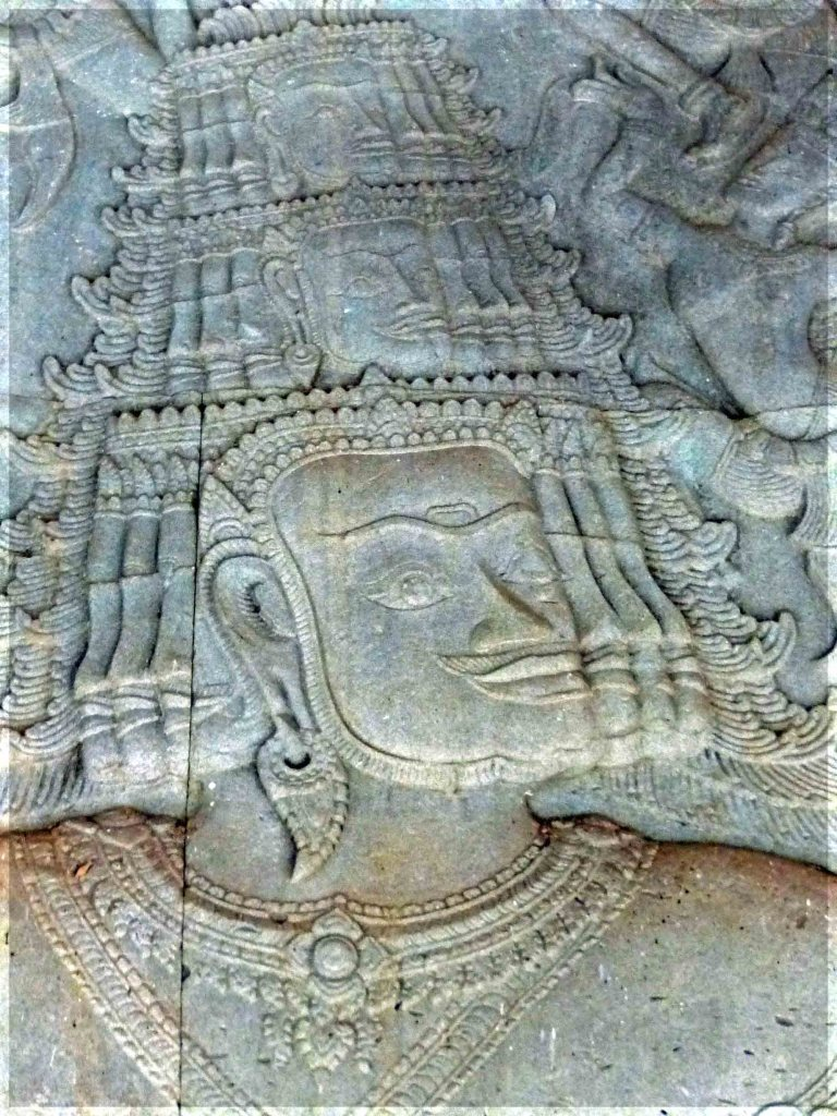 Stone relief carving of imposing figure