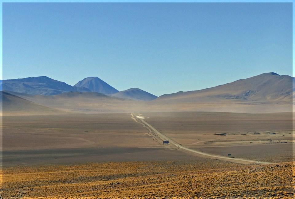 Desert landscape with sandy track