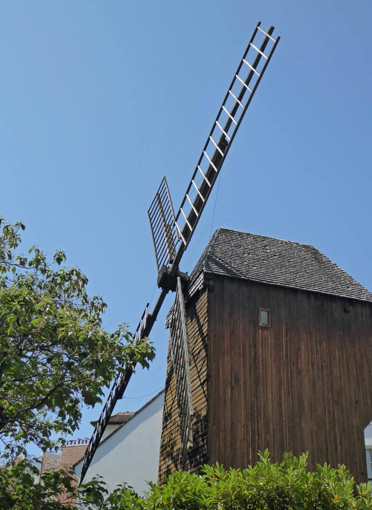 Large wooden windmill