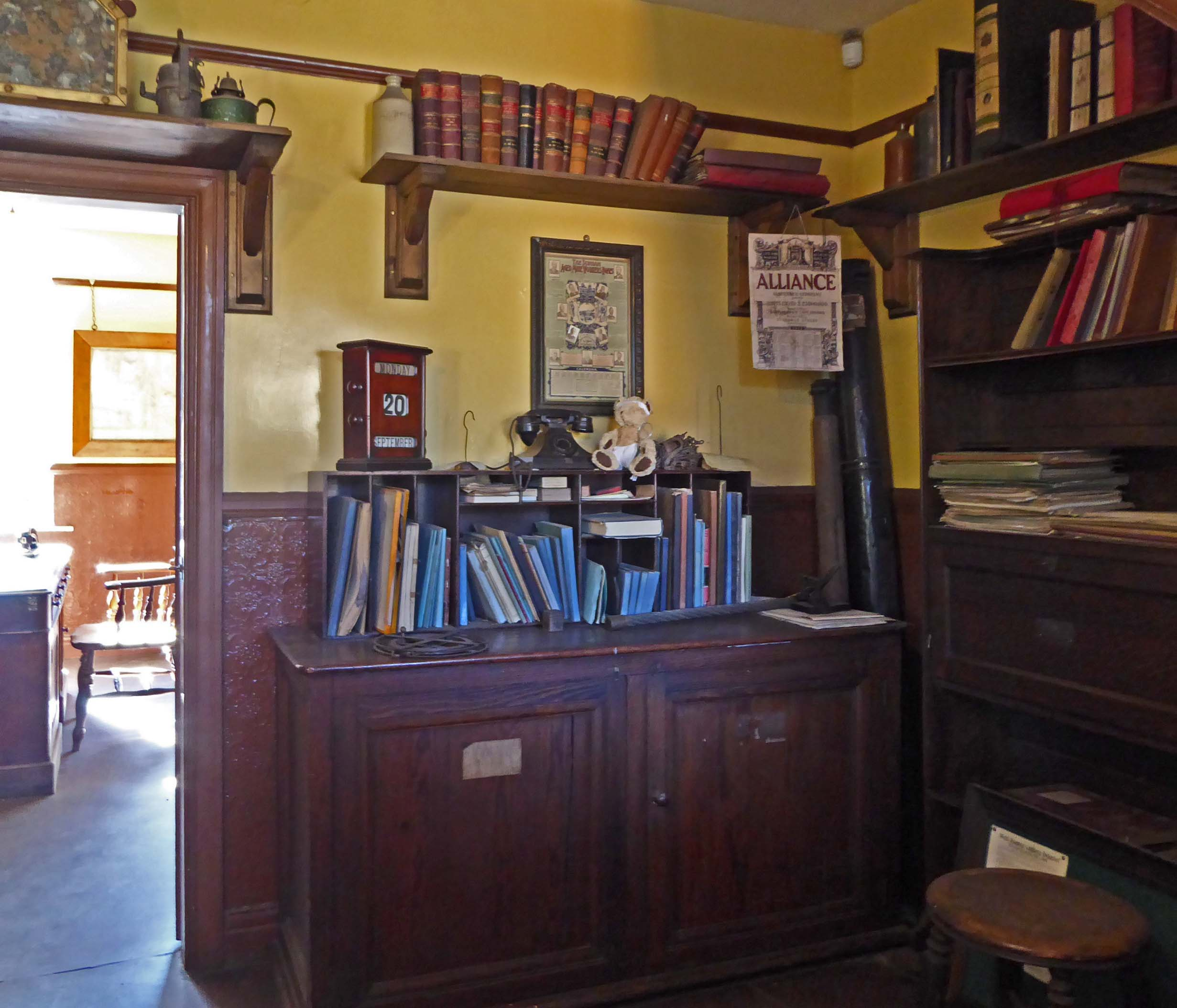 Old-fashioned office interior