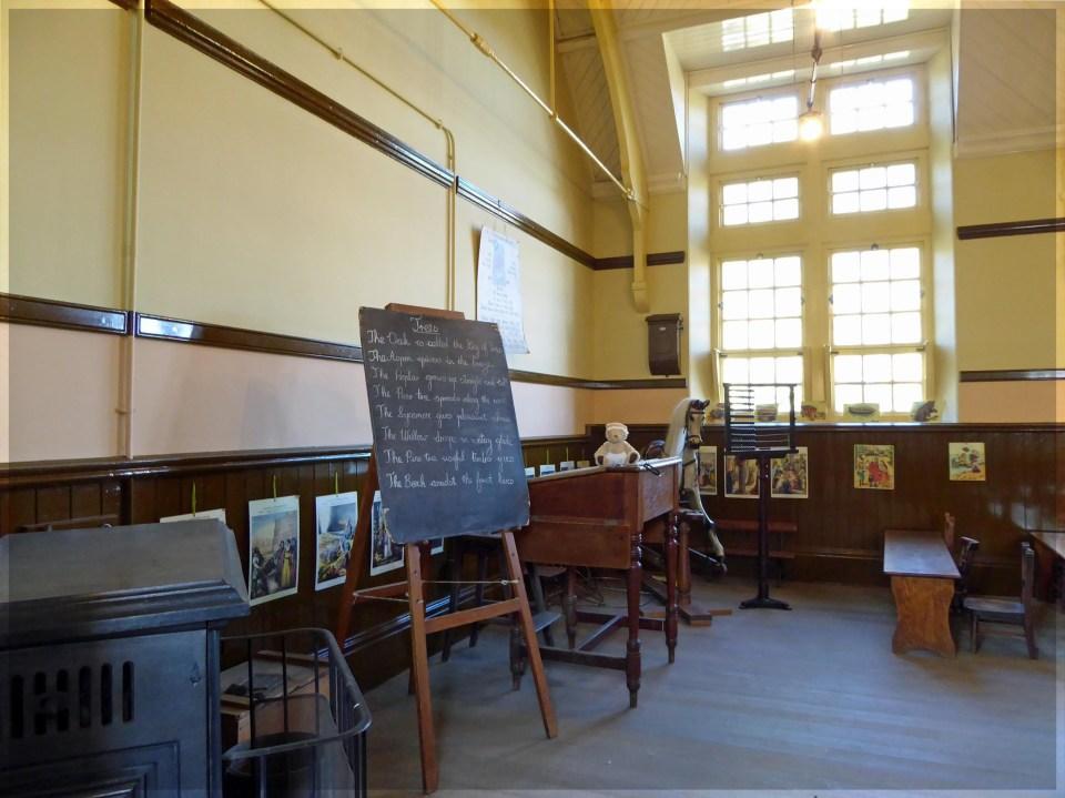 Old-fashioned classroom interior