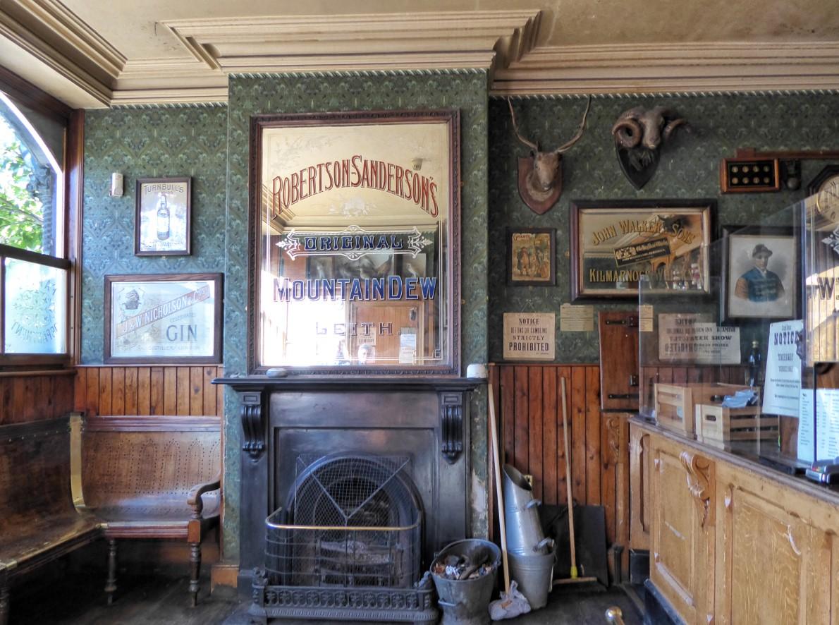 Old-fashioned pub interior