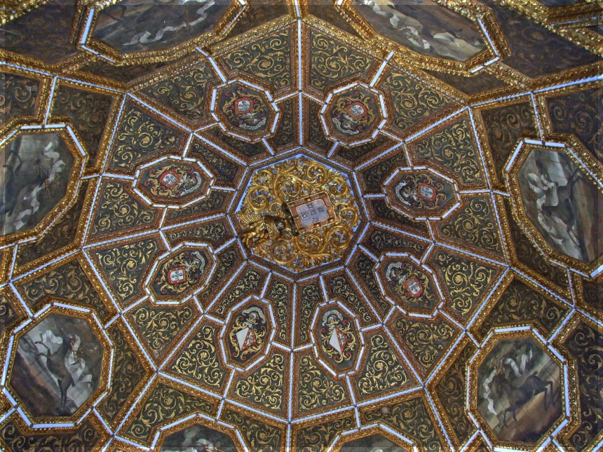 Ornate gold and painted dome