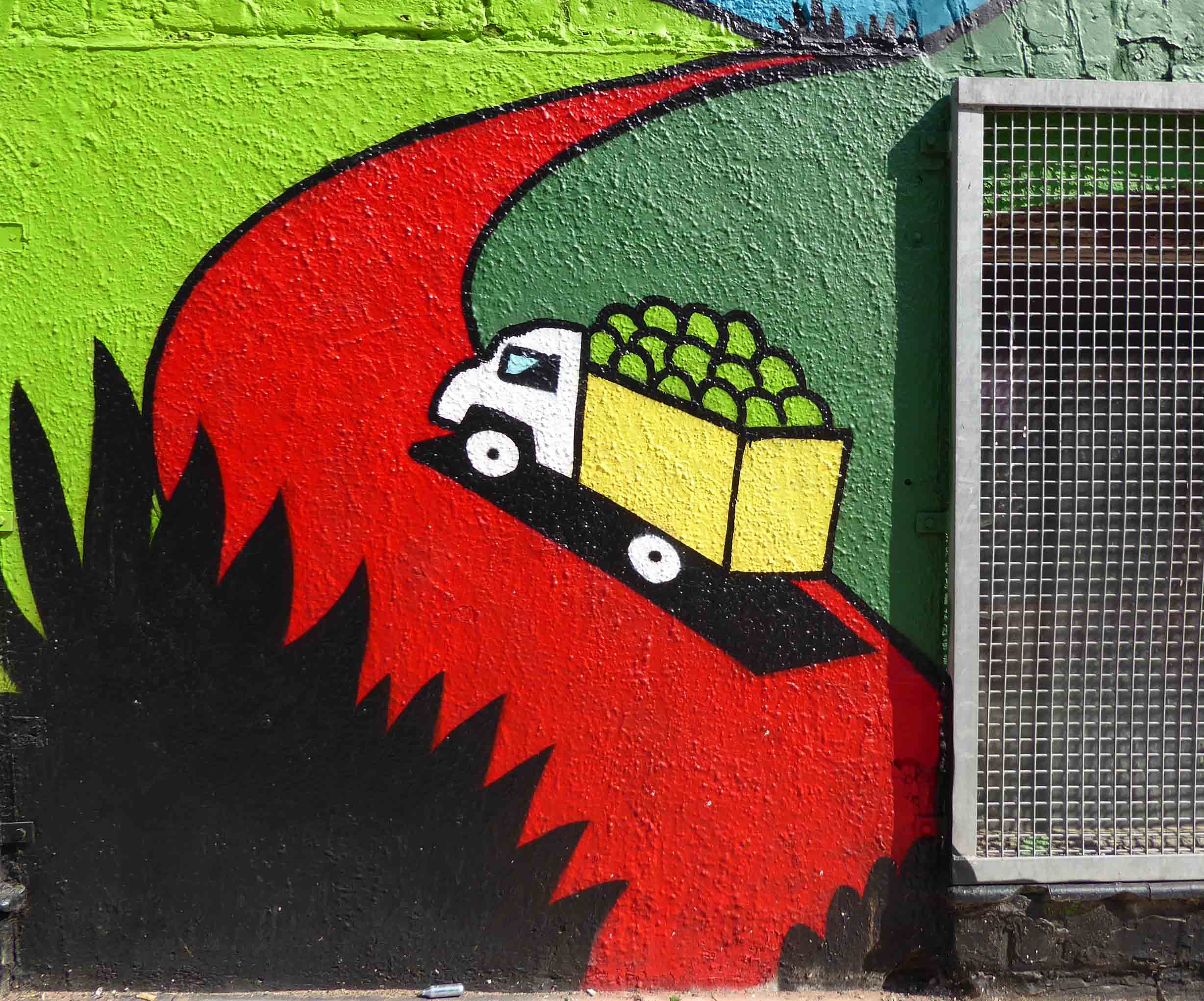 Mural of a truck with fruit