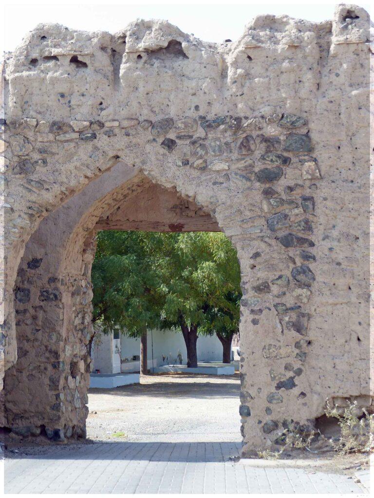 Stone gateway with battlements