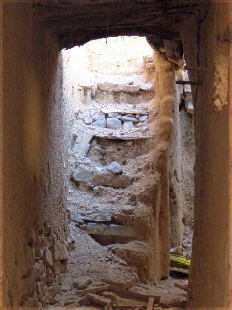 Tumbledown stone stairway
