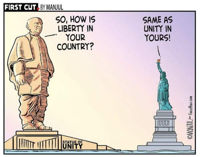 The Statue of Unity VS The Statue of Liberty
