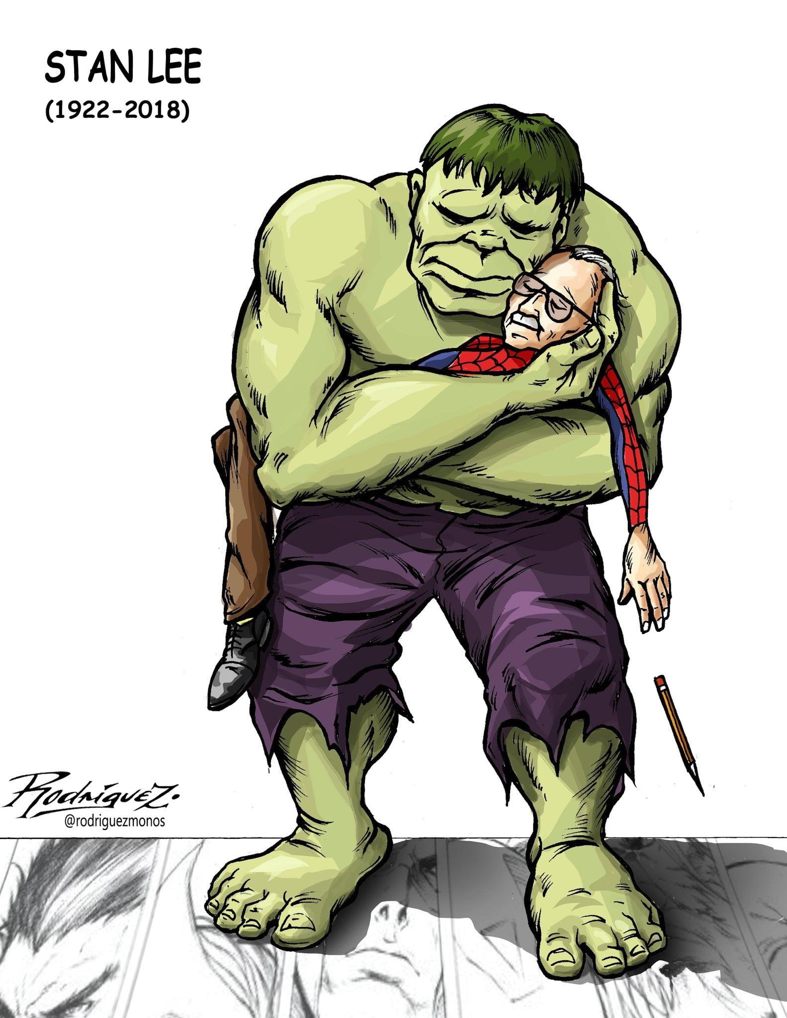 Good trip Stan Lee. Editorial Cartoon by Antonio Rodriguez Garcia, from Mexico City, Mexico