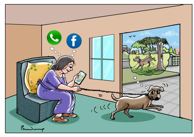 Addiction To Social Media Toons Mag