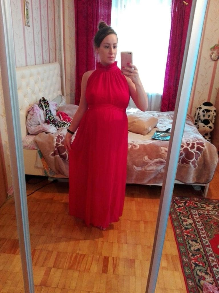 2018 New Maternity Dresses long Chiffon Dress Clothes For Pregnant Women photo review