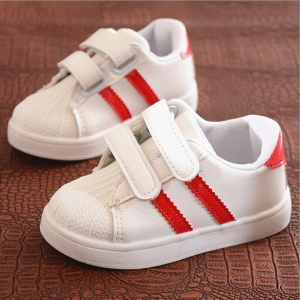 Children Shoes Girls Boys Sport Shoes Antislip Soft Bottom Kids Baby Sneaker Casual Flat Sneakers white Shoes size 21-30 4