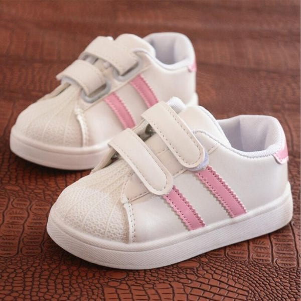 Children Shoes Girls Boys Sport Shoes Antislip Soft Bottom Kids Baby Sneaker Casual Flat Sneakers white Shoes size 21-30 3