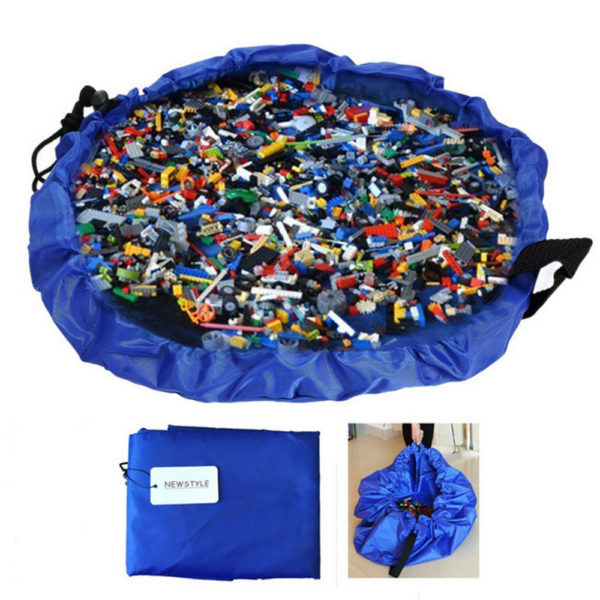 Hot Portable Waterproof Kids Children Infant Baby Play Mat Large Storage Bags Toy Organizer Blanket Rug Boxes Outdoor Pad Y0089 2