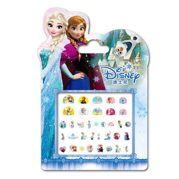 Frozen elsa and Anna  Makeup Toy Nail Stickers Toy Disney snow White Princess Sophia Mickey Minnie girls sticker for kids gift