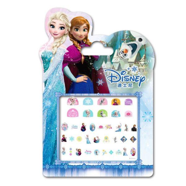 Frozen elsa and Anna  Makeup Toy Nail Stickers Toy Disney snow White Princess Sophia Mickey Minnie girls sticker for kids gift 5