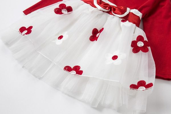 Long Sleeve Baby Girls Dress For Girl Christening Birthday 0 2T Newborn Toddler Dresses Kids Casual Clothes Vestido Infantil 24M 5