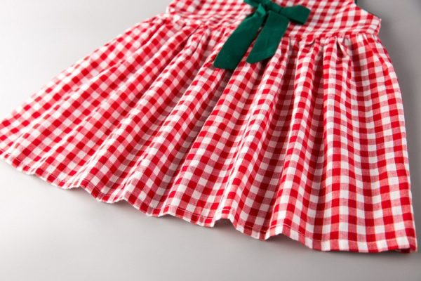 LOVE DD&MM Girls Clothing Dresses 2019 New Girl Clothes Fashion Sweet Plaid Bow Vest Dress For Girl