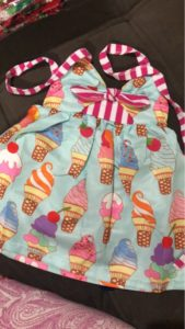 2018 Toddler Kids Baby Girls Strap Backless Dress Ice Cream Sundress Summer Cute Green Clothes photo review