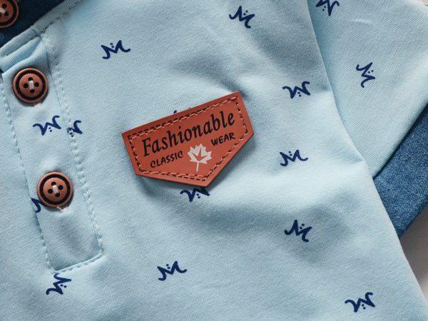 BibiCola baby boys summer clothes newborn children clothing sets for boy short sleeve shirts + jeans cool denim shorts suit