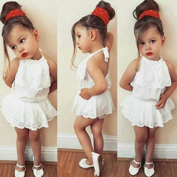 Cute Newborn Kids Baby Girl Infant Lace Romper Dress Jumpsuit Playsuit Clothes Outfits