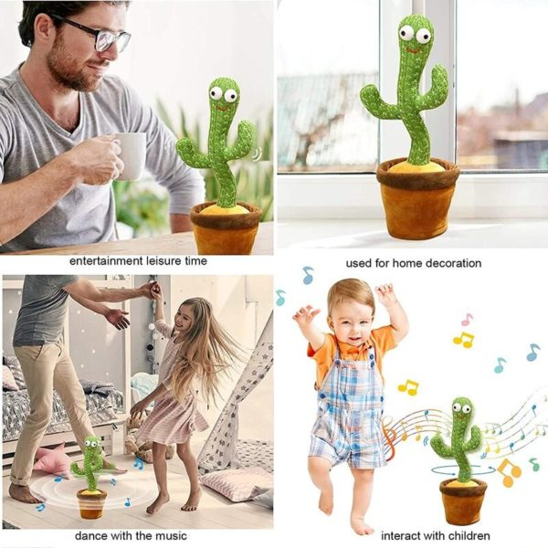 Dancing Cactus, Singing Cactus Toy, Cactus Plush Toy for Home Decoration and Children Playing Without Recording Function 6