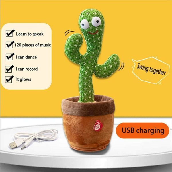 Dancing Cactus, Singing Cactus Toy, Cactus Plush Toy for Home Decoration and Children Playing Without Recording Function 2