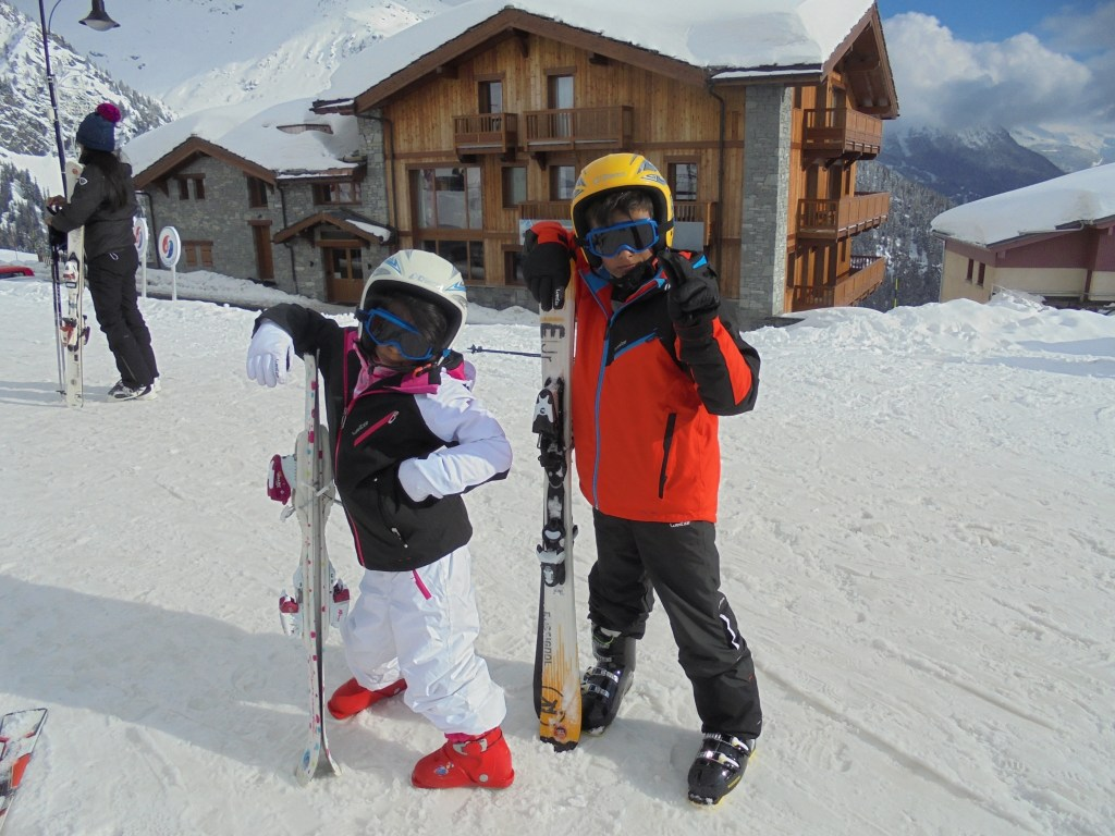 First ski holiday with adopted children in the French alps