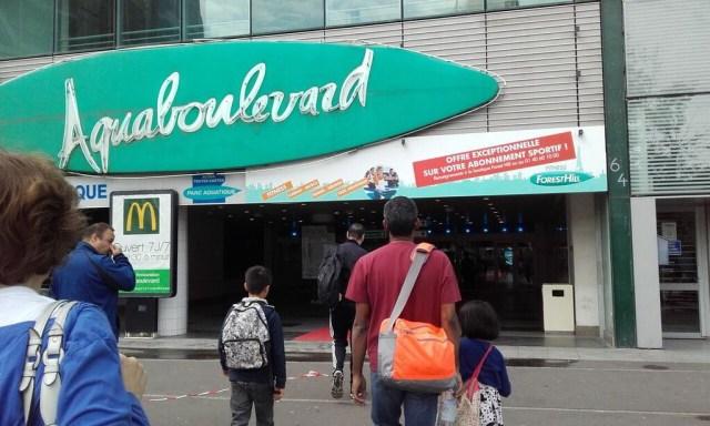 Arriving at Aquaboulevard