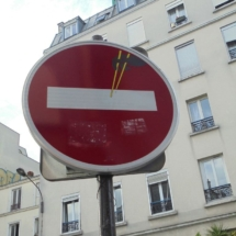 Stop street sign hack, Clet Abraham again
