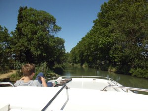 Cruising: A section of the Canal du Midi near Agde