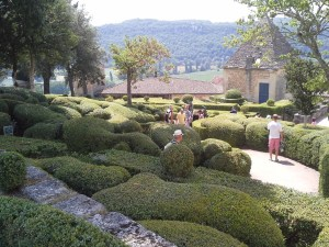 Neat round hedges at Marqueyssac