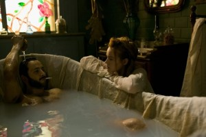 "Smoking in the bath: A scene from period brothel drama ""Maison Close"""