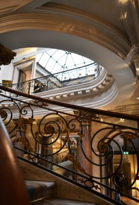 Monumental: A section of the winter garden staircase