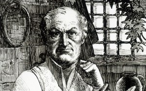 An illustration of De Sade in his cell