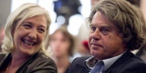 Keeping France a no-Jihadist zone: Gilbert Collard shares a joke with FN leader Marine Le Pen