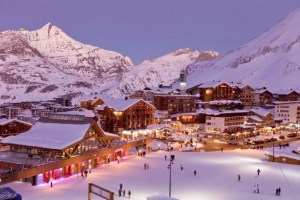 Sunset at Tignes