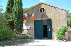 A very Irish affair: the flags of France, Europe and Ireland hang proudly at the Domaine des Anges