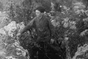 Intrepid tunneller: André David, one of the two teenagers who discovered the Pech Merle Caves