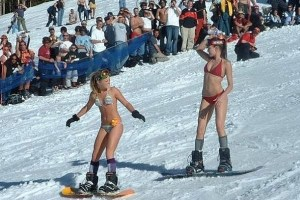 Stripped-down skiing is possible with warmer and longer days